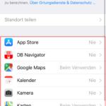 iOS – Datenschutz Optionen richtig verwenden